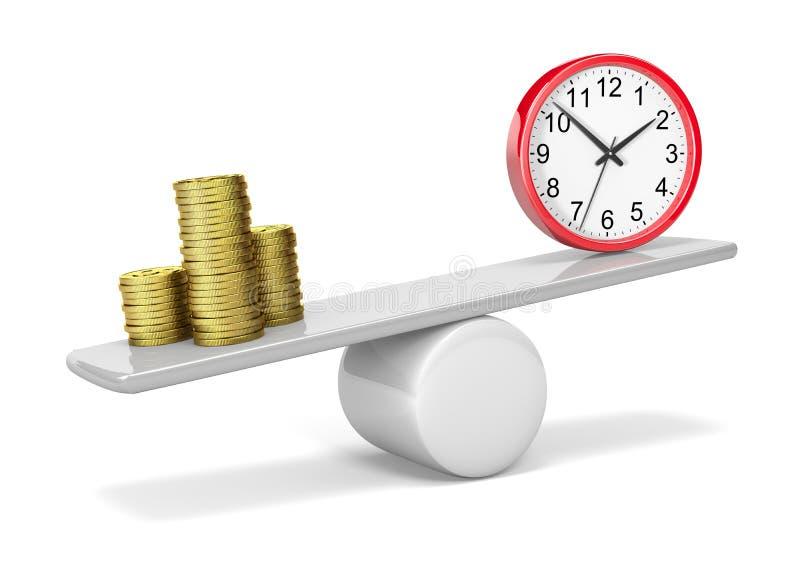 Équilibre de temps d'argent illustration de vecteur