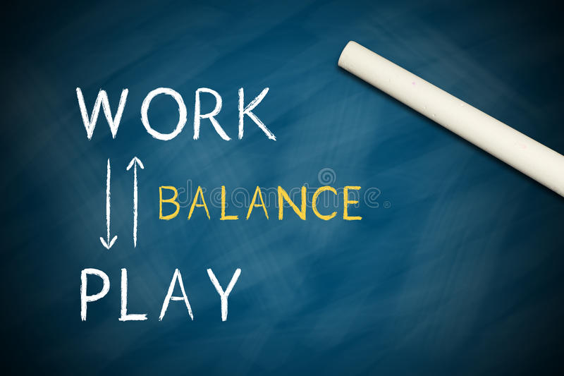 Équilibre de travail et de jeu illustration stock