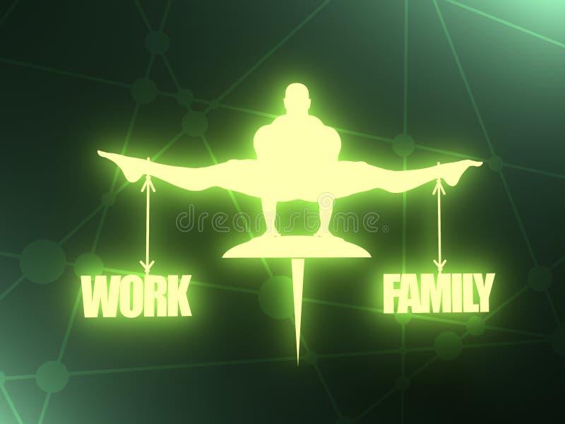Équilibre de travail et de famille illustration de vecteur