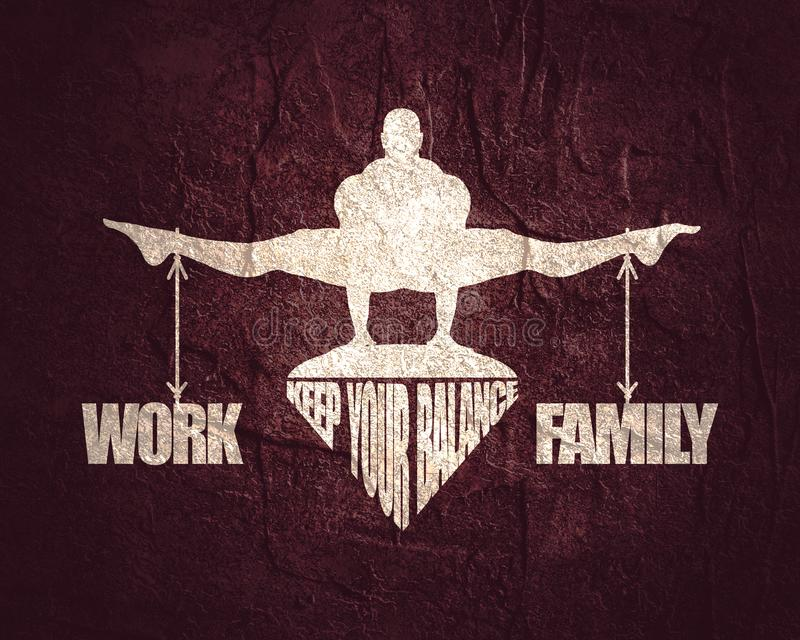 Équilibre de travail et de famille illustration libre de droits