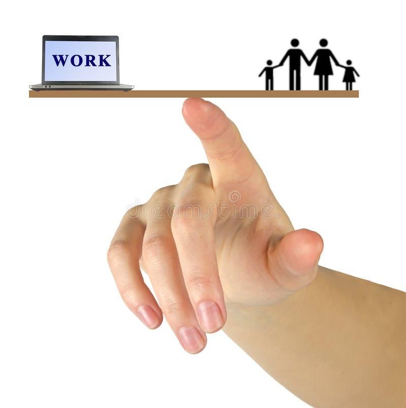 Équilibre de travail/famille image libre de droits