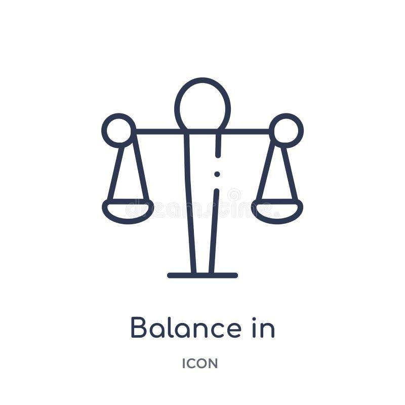 Équilibre linéaire dans l'icône de ressources humaines de la collection d'ensemble de ressources humaines La ligne équilibre minc illustration stock