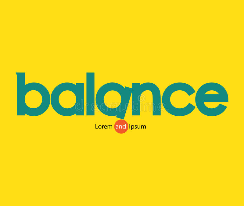 Équilibre Logo Concept illustration stock