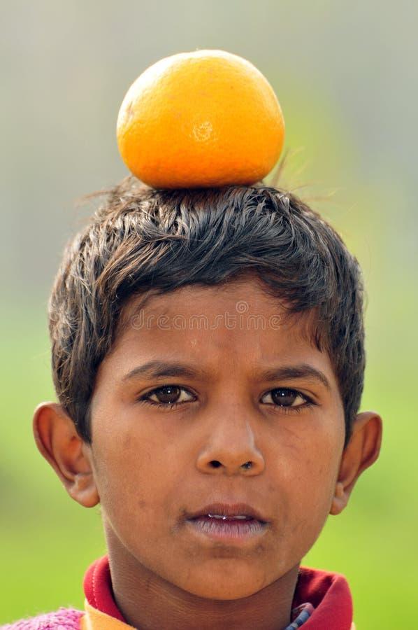 Équilibre orange photos stock