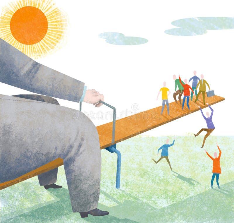 Équilibre social illustration stock