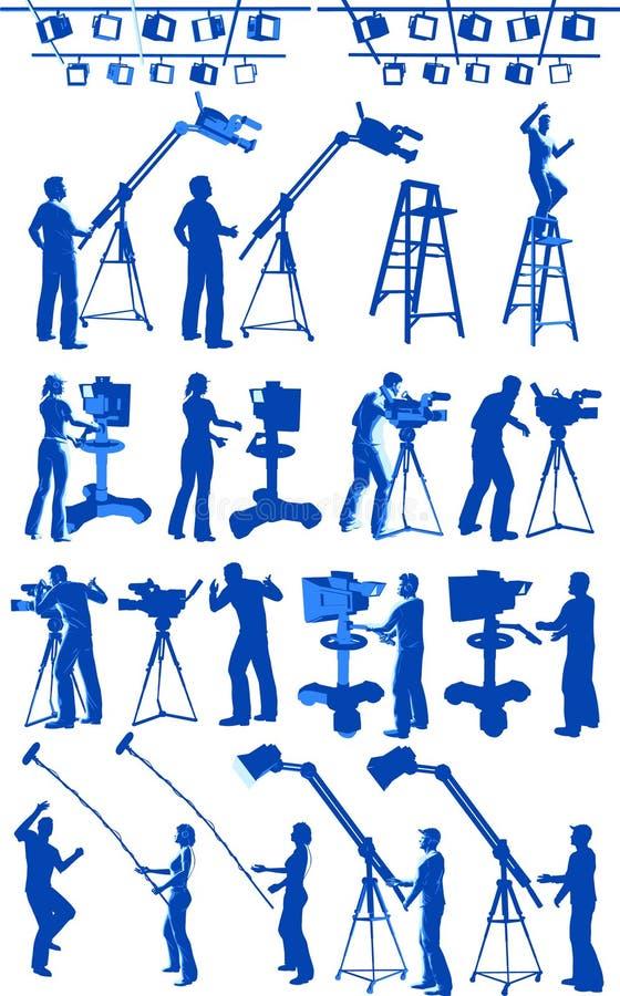 Équipage de studio de chaîne de télévision illustration de vecteur