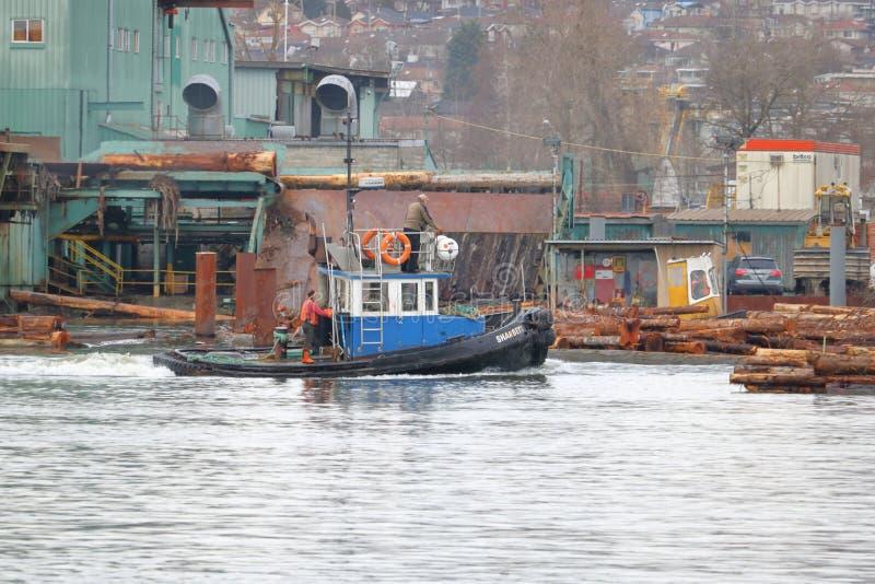 Équipage et Tug Boat photos libres de droits