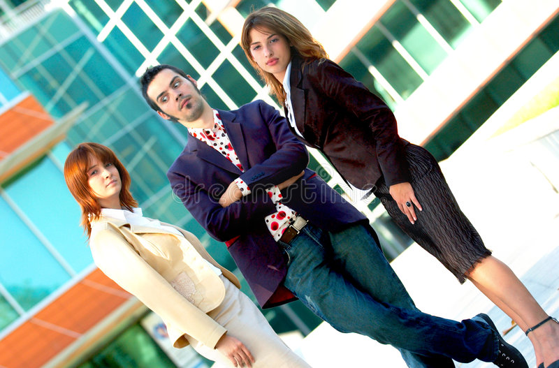 Équipe à la mode d'affaires   photographie stock