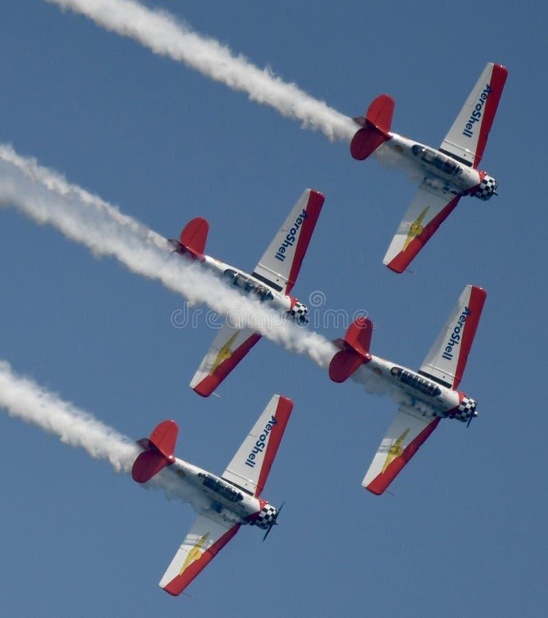 Équipe acrobatique aérienne d'Aeroshell image libre de droits