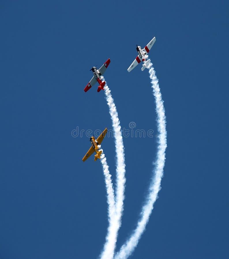 Équipe acrobatique aérienne de la Nouvelle Zélande Warbirds image stock