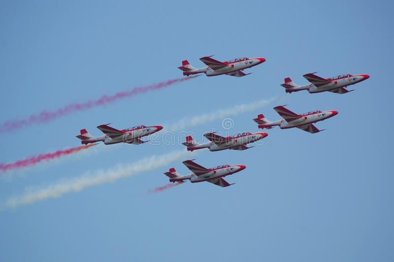 Équipe acrobatique aérienne polonaise photos libres de droits