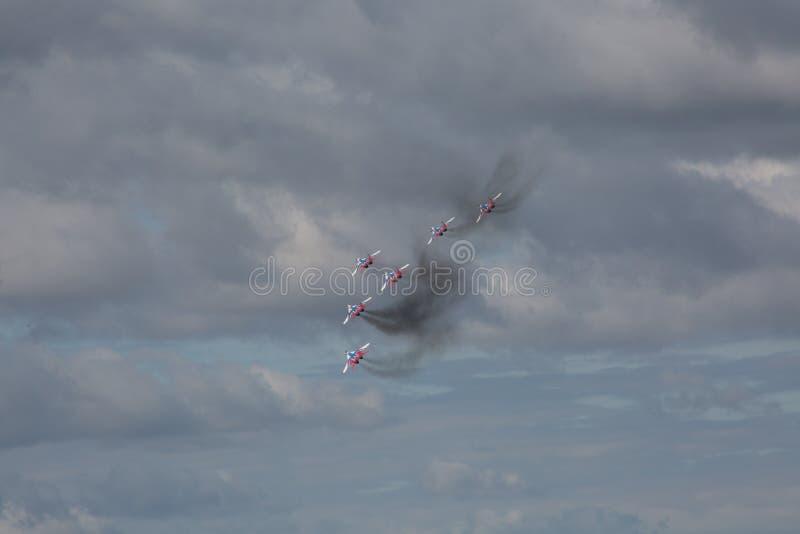 Équipe acrobatique aérienne Swifts photographie stock libre de droits