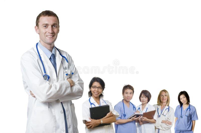 Équipe amicale de docteur photos stock