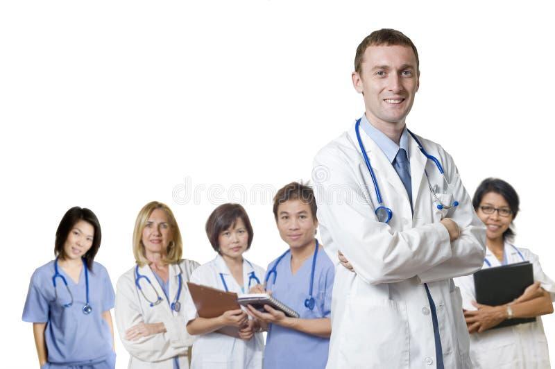 Équipe amicale de docteur photographie stock
