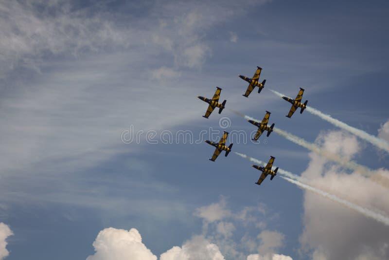 Équipe baltique d'acrobaties aériennes de ` d'abeilles de ` image libre de droits