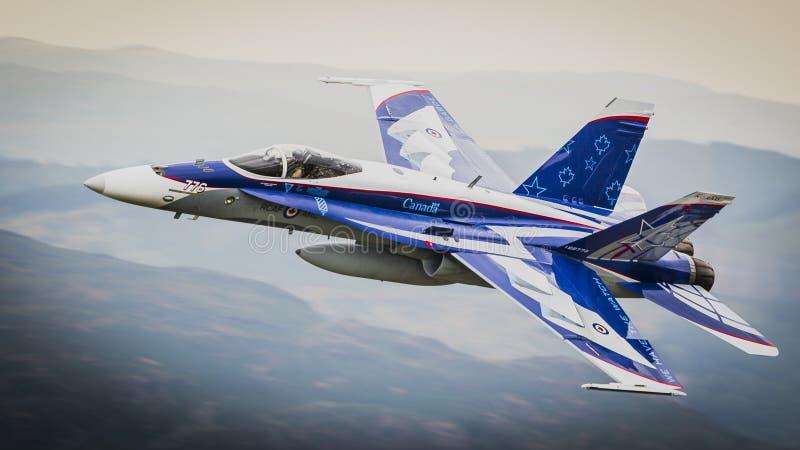 Équipe canadienne F18 de démonstration de l'armée de l'air CF-18 images stock