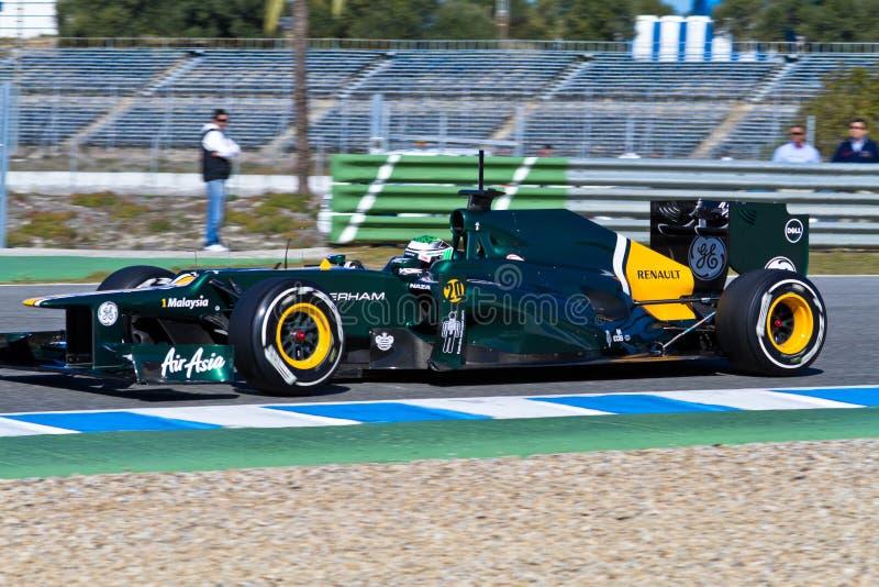 Équipe Catherham F1, Heikki Kovalainen, 2012 image stock