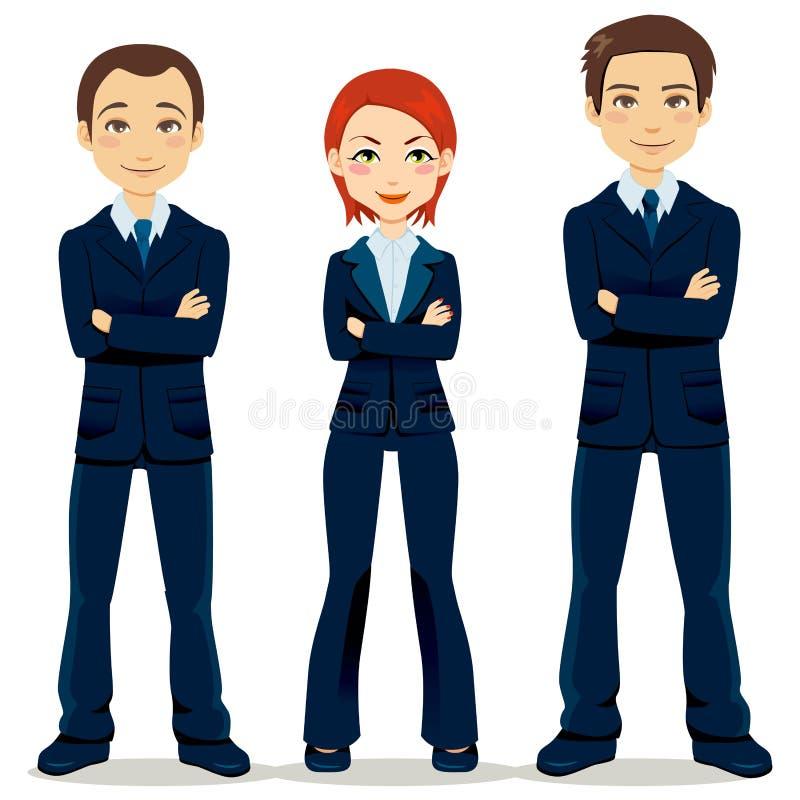 Équipe confiante d'affaires illustration stock