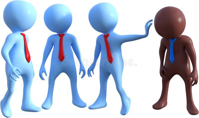 Équipe d'affaires, équipes, travail d'équipe, illustration libre de droits