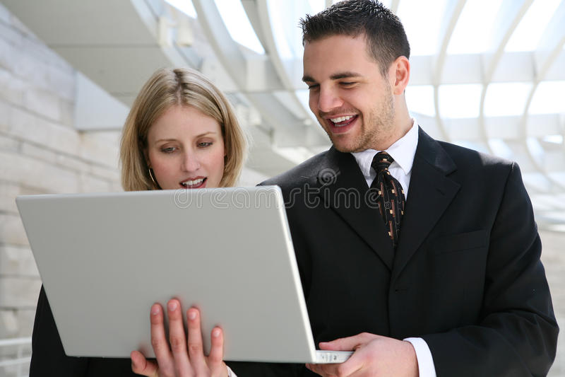 Équipe d'affaires au bureau image libre de droits
