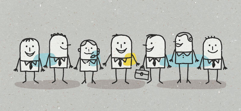 Équipe d'affaires d'hommes et de femmes illustration de vecteur