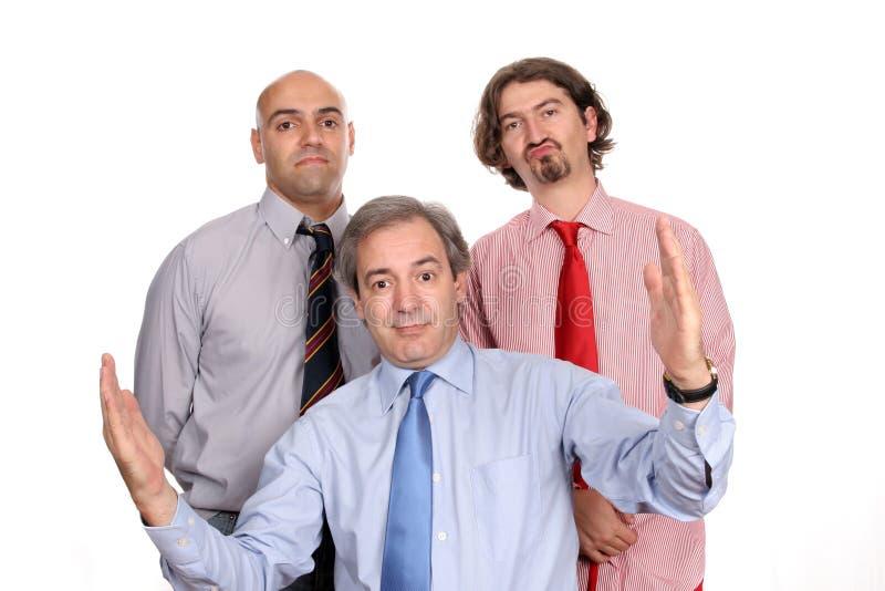 Équipe d'affaires de trois hommes photographie stock libre de droits