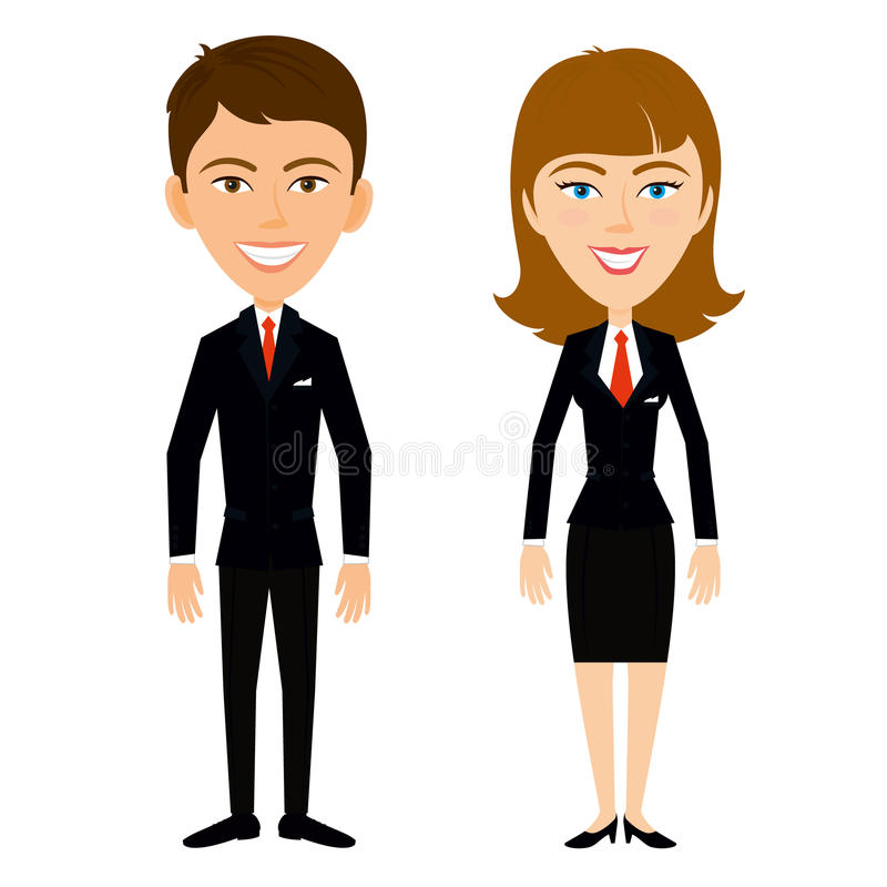 Équipe d'affaires Un homme réussi dans une veste noire Table de croissance d'affaires illustration stock