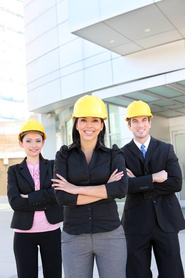 Équipe d'architecte d'homme et de femme photographie stock