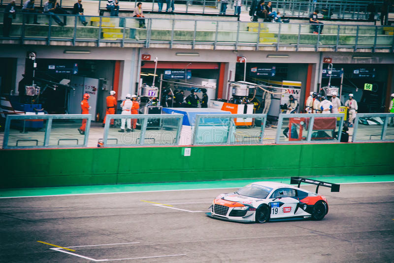 Équipe d'Audi R8 photo stock