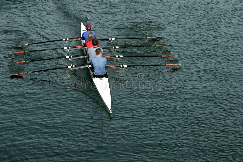 Équipe d'aviron photographie stock