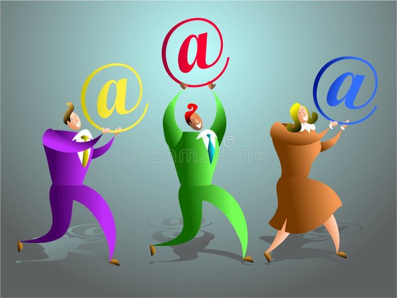 Équipe d'email illustration de vecteur