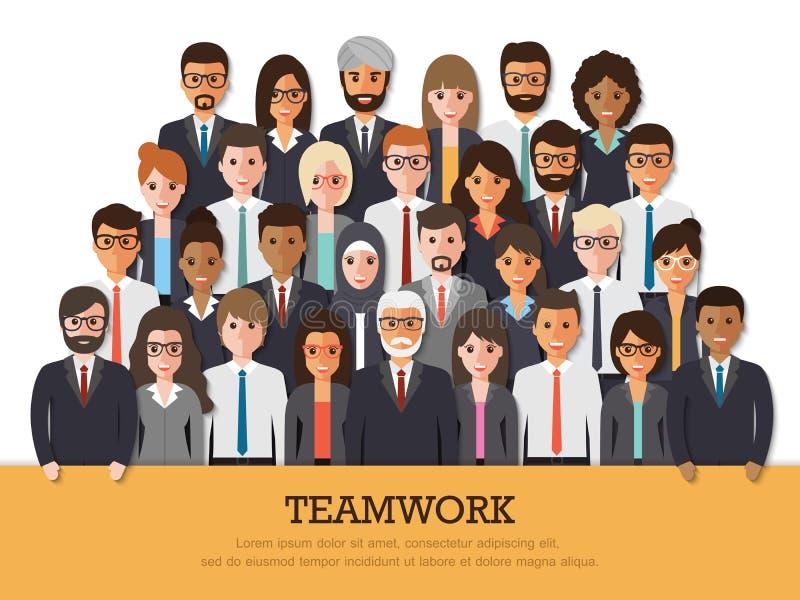 Équipe d'homme d'affaires et de femme d'affaires illustration de vecteur