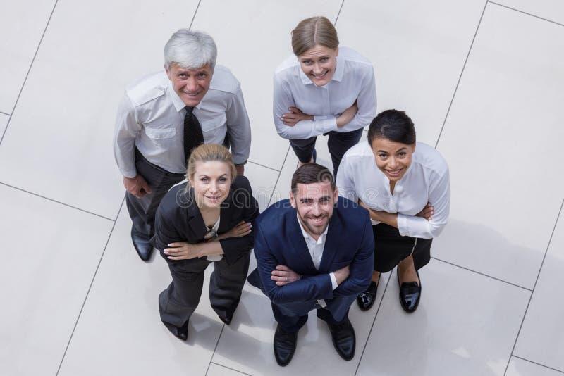 Équipe d'hommes d'affaires de portrait photo libre de droits