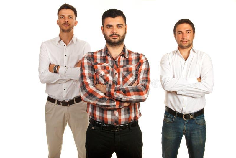 Équipe d'hommes occasionnels d'affaires photos stock