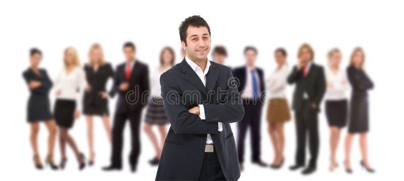 Équipe d'importantes affaires image stock