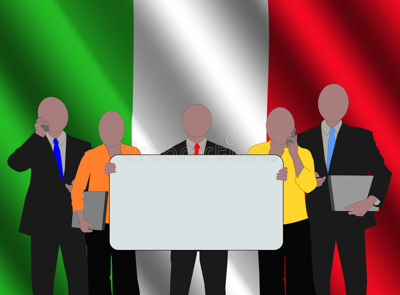équipe d'Italien d'indicateur illustration de vecteur