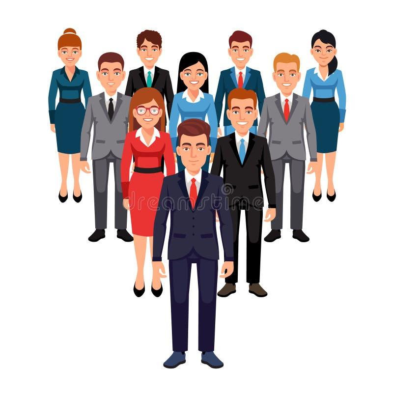Équipe de cadres Concept de direction illustration libre de droits