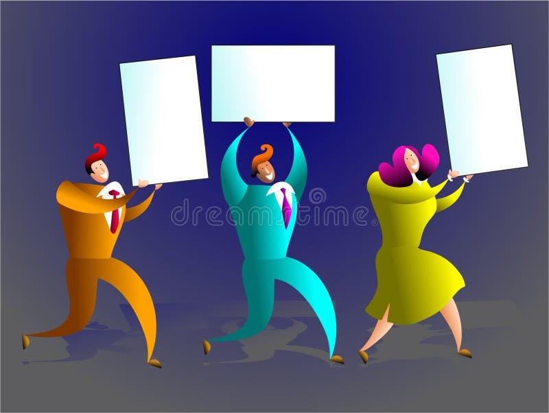 Équipe de carte illustration libre de droits