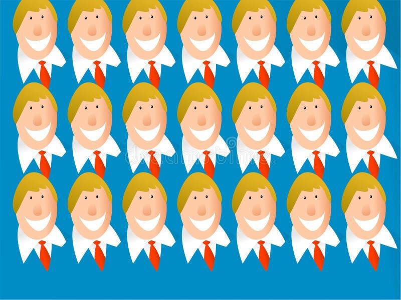 Équipe de clone illustration libre de droits
