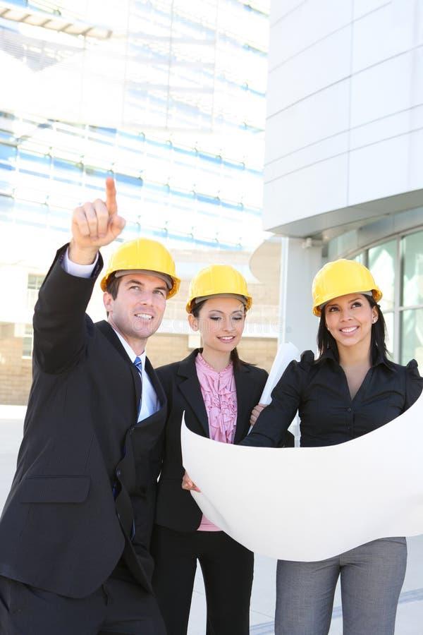 Équipe de construction de bâtiments images libres de droits