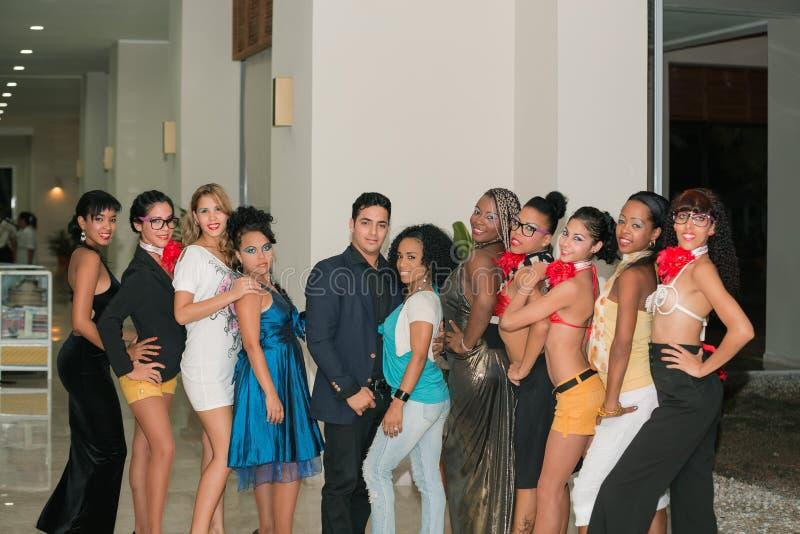 Équipe de danseurs cubains professionnels photographie stock libre de droits