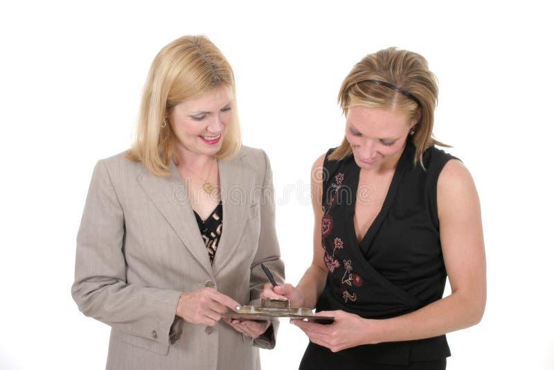 Équipe de deux femmes d'affaires 2 images libres de droits