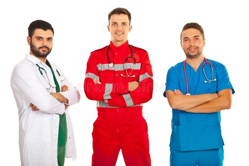 Équipe de différents médecins photographie stock libre de droits