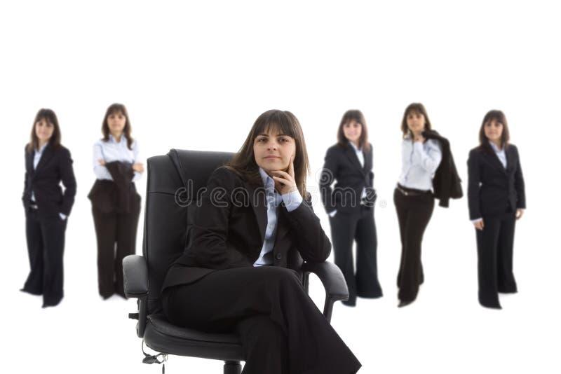 Équipe de femme d'affaires principale images libres de droits