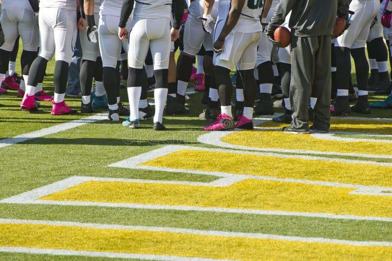 Équipe de football américain, joueurs et jeu de sports photos libres de droits