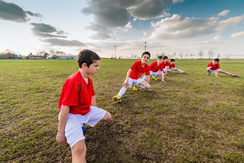 Équipe de football d'enfants photo libre de droits
