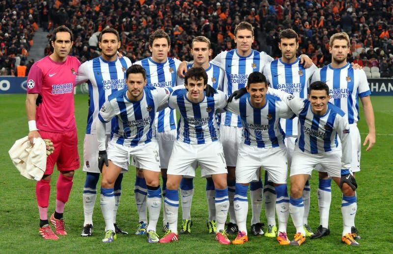 Équipe de football de Real Sociedad images libres de droits