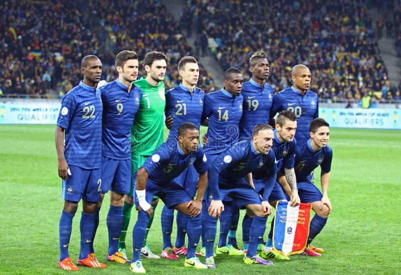 Équipe de football de ressortissant de Frances image stock