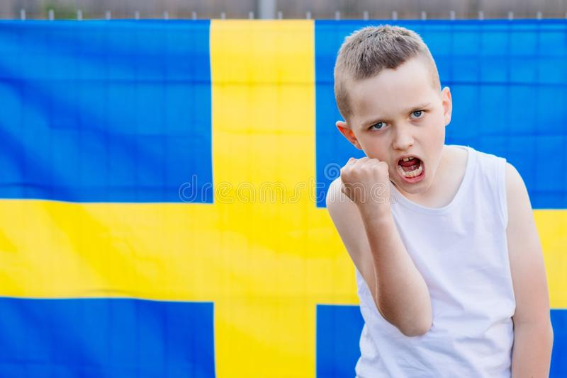 Équipe de football de national de la Suède image stock