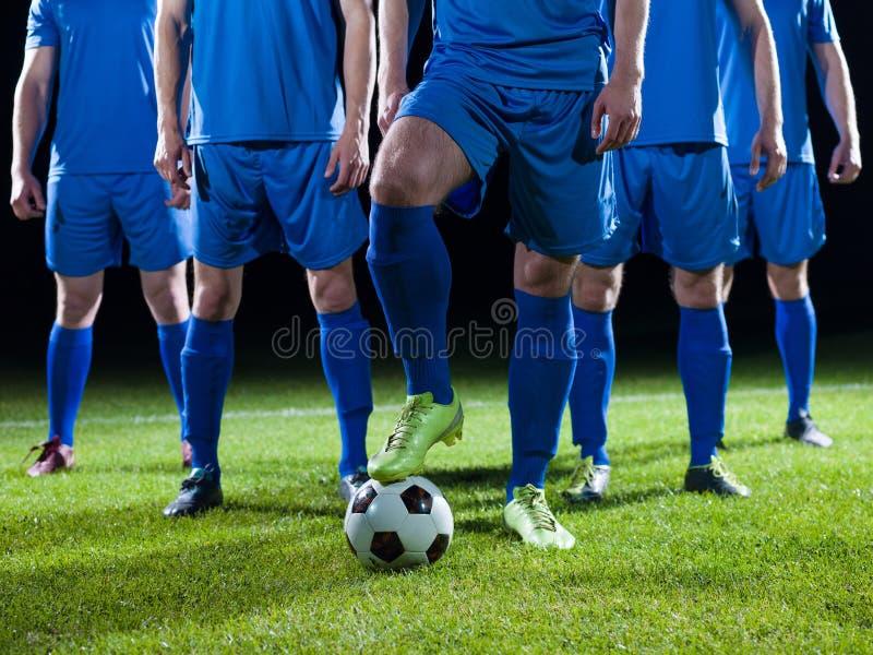 Équipe de footballeurs photographie stock
